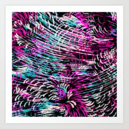 sparkling texture on black Art Print