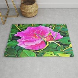 Pink Flower of Graceful Beauty Rug