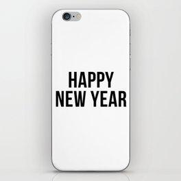 Happy New Year #minimalism #holidays iPhone Skin