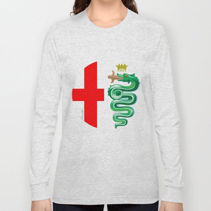 6cb5d88e3 alfa romeo logo interpretation! long sleeve t-shirt