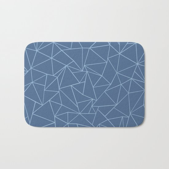 Ab Outline Blues Bath Mat