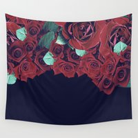 roses Wall Tapestries featuring Roses by Eleaxart