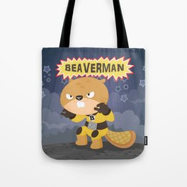 The incredible Beaverman Tote Bag