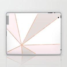 GEO SUNBURST ROSEGOLD PASTEL Laptop & iPad Skin