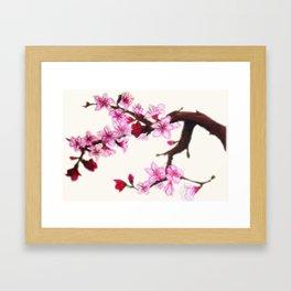 Cerezo en flor Framed Art Print