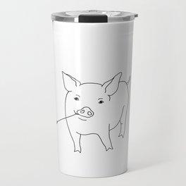 the pig Travel Mug
