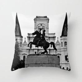 Jackson Square, squared Throw Pillow