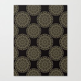Circle Flourish Floral Mandala Canvas Print