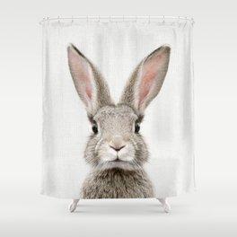 Bunny Portrait Shower Curtain