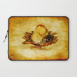 The baby and cabbages flower Laptop Sleeve