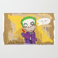 "suits Area & Throw Rugs featuring The Joker"" suits you sir "" by Funki monkey animation studio"