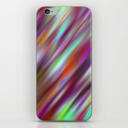 Pastel Flash Abstract iPhone Skin