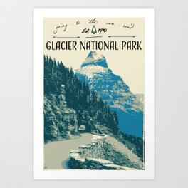 Glacier National Park - Going to the Sun Road Art Print