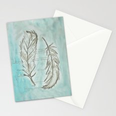 Feathers and memories Stationery Cards