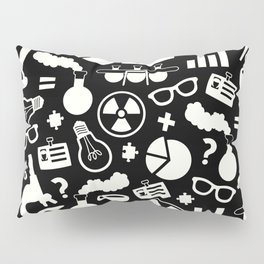 Black and White Science Pattern Pillow Sham