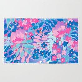 Pastel Watercolor Flowers Rug