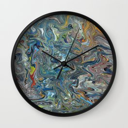 Abstract Oil Painting 19 Wall Clock