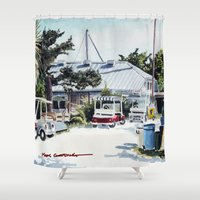 ariana grande Shower Curtains featuring Boca Grande by The Max Gooding Company