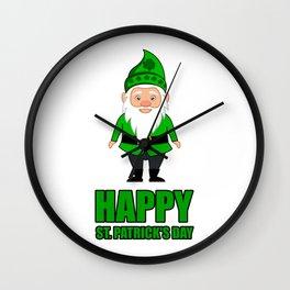 ST PATRICKS DAY LEPRECHAUN Costume Gift Kids Wall Clock