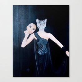 Woman or Cat - Top Secret Canvas Print