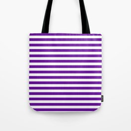 Halloween Two color stripes Violet and White Tote Bag