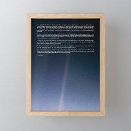 Pale Blue Dot — Voyager 1 (2020 rev.), quote Framed Mini Art Print