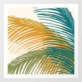 Golden Hour Palms Art Print