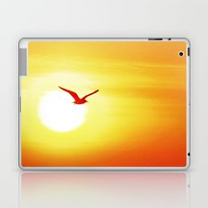 Seagull on sunset background Laptop & iPad Skin