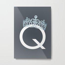 Q - Queen Metal Print