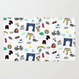 Triathlon Doodles Rug