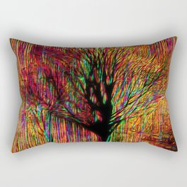 Abstract tree on a colorful background Rectangular Pillow