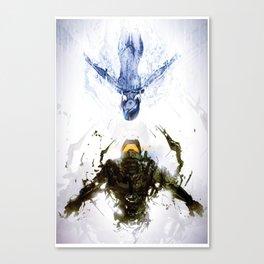 Who's the Machine? Canvas Print