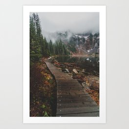 Foggy Lake 22, Washington Art Print