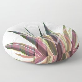 Tropical Desire - Foliage and geometry Floor Pillow