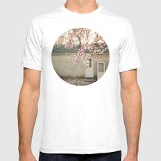 Magnolia Tree  MEDIUM White Mens Fitted Tee