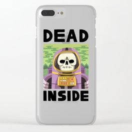 DEAD INSIDE Clear iPhone Case