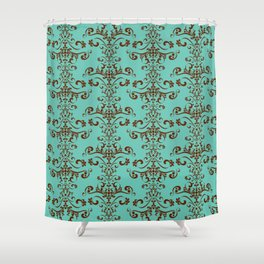 Rococo tapestry - Mint chocolate Shower Curtain