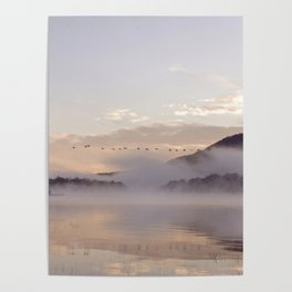 Into the Mists of Dawn: Sunrise on Lake George Poster