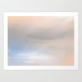 Terracotta Rain II Art Print