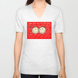 cherry heads - amo você Unisex V-Neck