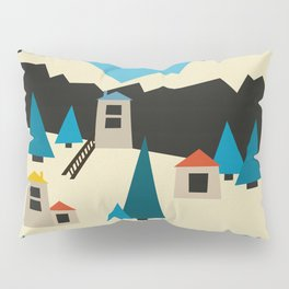 A Sunny Winter Day in the Mountain Village Pillow Sham