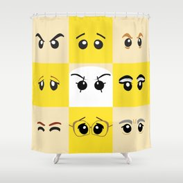 Eyes of the Minifigs Shower Curtain