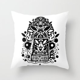 kozmik machine Throw Pillow