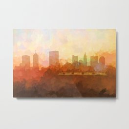 Columbus, Ohio Skyline - In the Clouds Metal Print