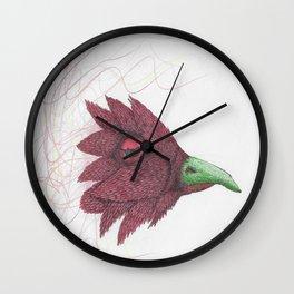Bird of feathers Wall Clock