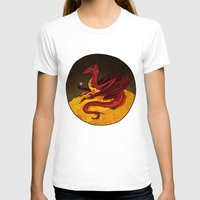 smaug T-shirts featuring Smaug the Golden by RedWryvenArt