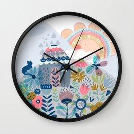 Hello mountains Wall Clock