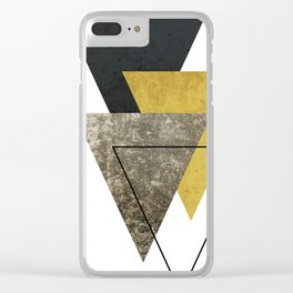 Modern Geometric I Clear iPhone Case