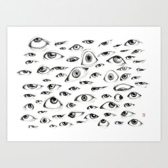 Looking at YOU!! Art Print