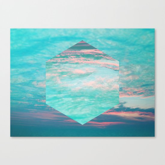 An underwater sunset Canvas Print